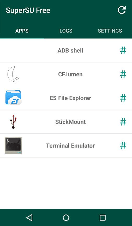 SuperSU Приложения