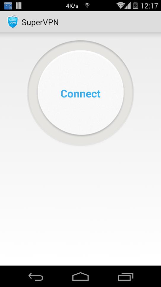 SuperVPN кнопка подключения