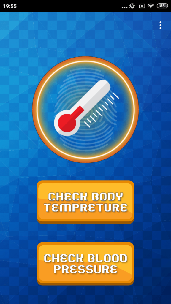 Термометр Температуры Тела Главный экран
