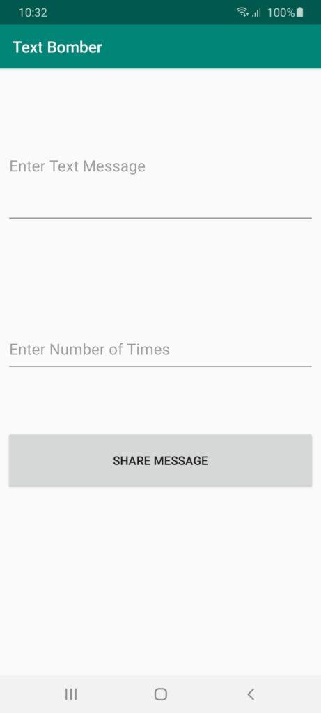 Text Bomber Ввод