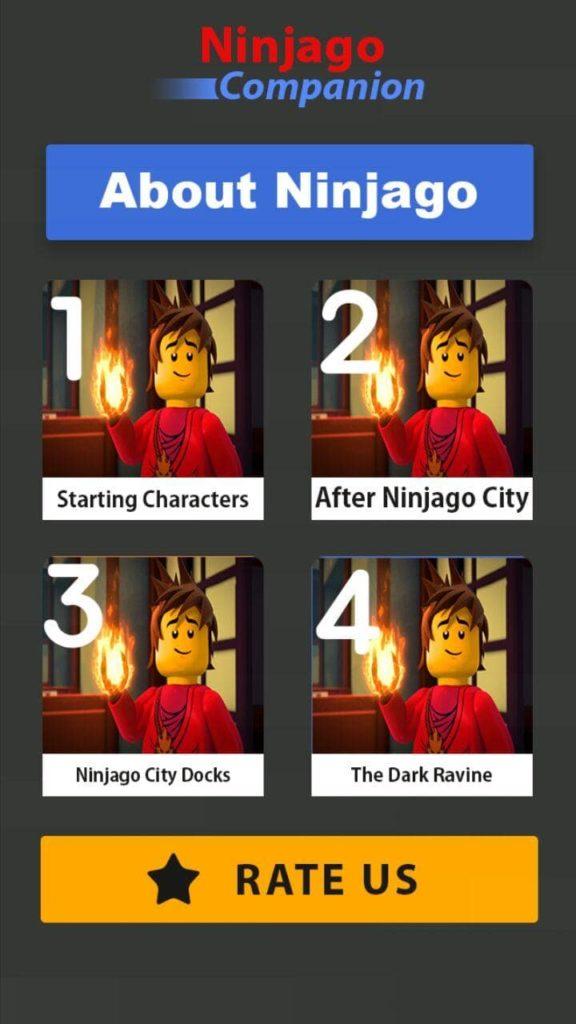 Tips For LEGOO Ninjagoo Меню
