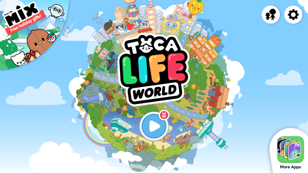 Toca Life World Главное меню