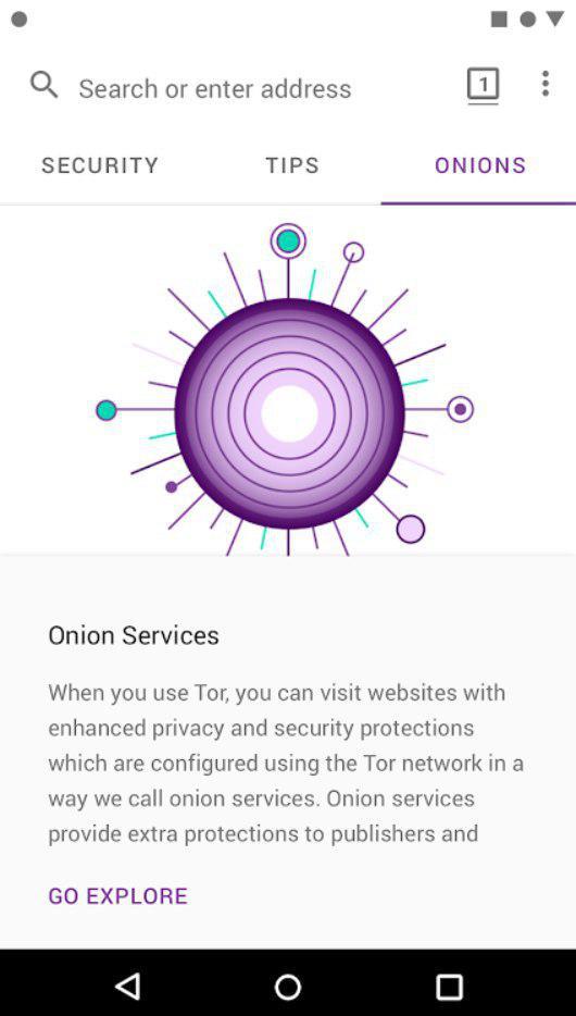 Tor Браузер Основная страница