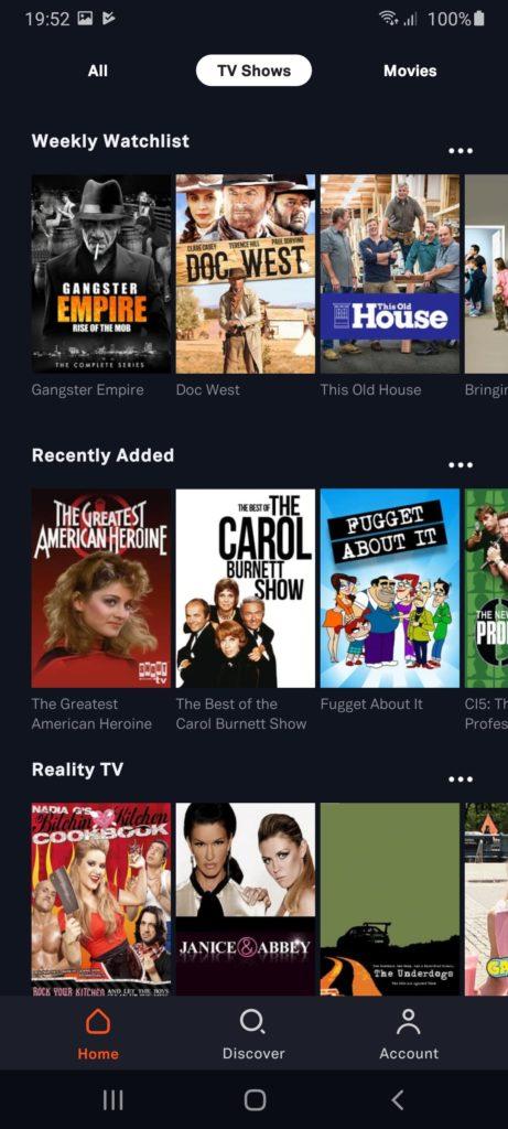 Tubi TV Передачи