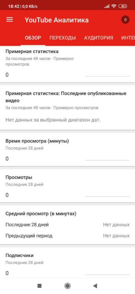 Творческая студия YouTube Аналитика