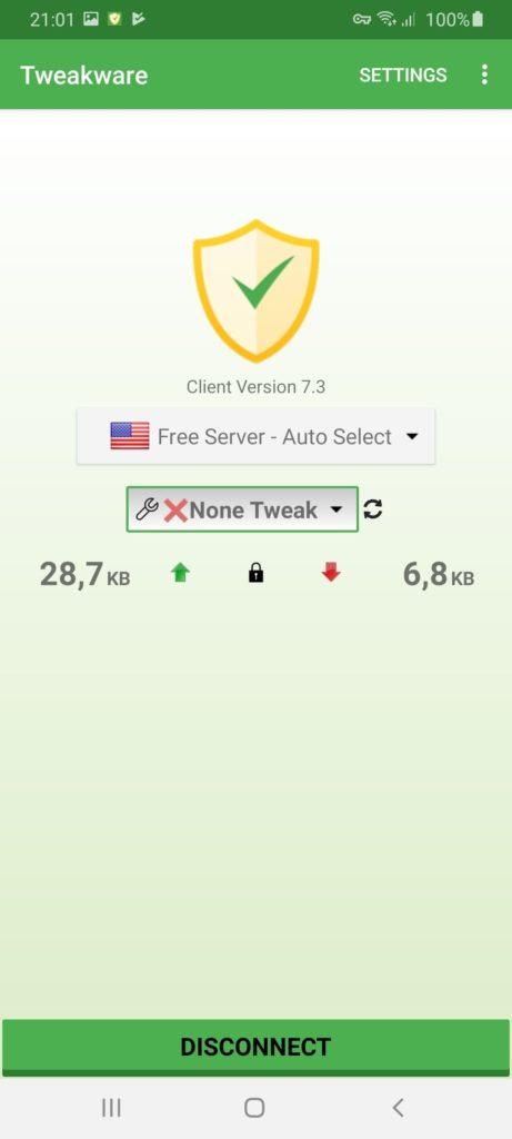 Tweakware Подключение
