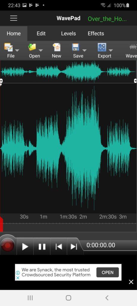 WavePad Трек