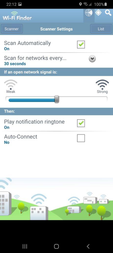WiFi Finder Настройки