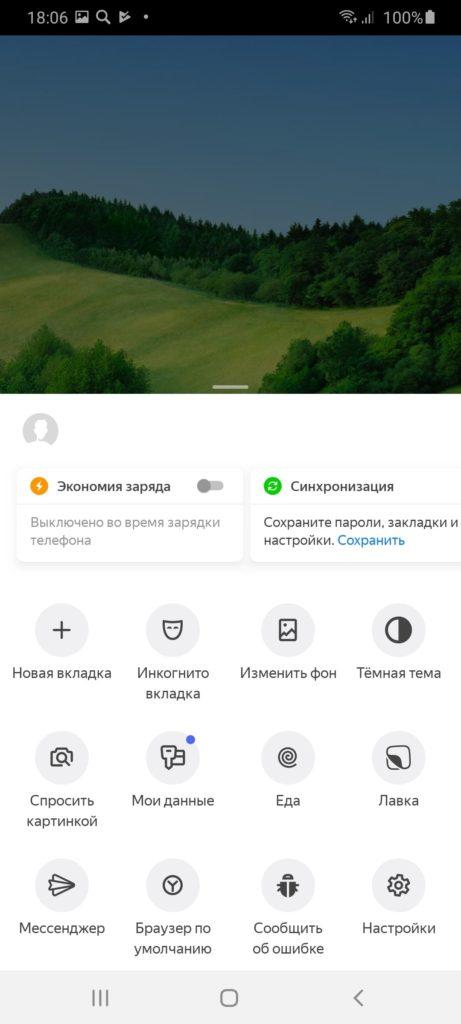 Яндекс Браузер альфа Настройки