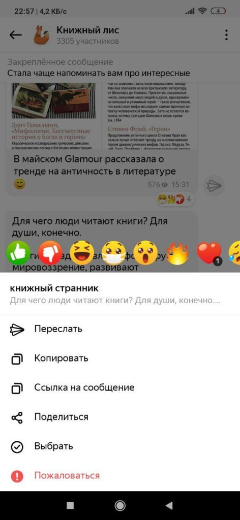 Яндекс Мессенджер Функции Публикации