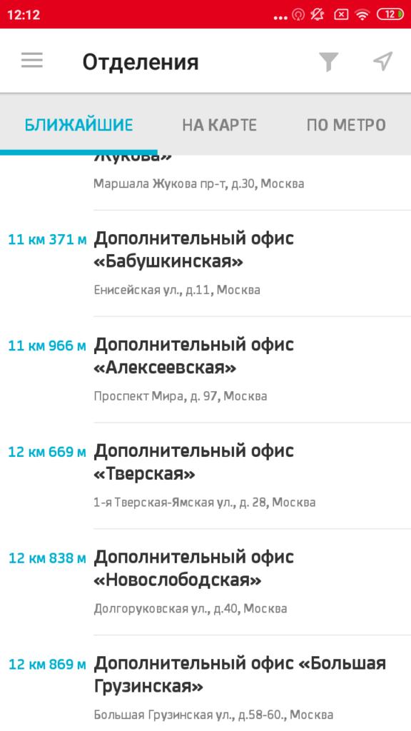 Юникредит Список банкоматов