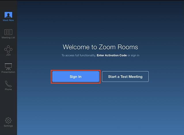 Zoom Rooms Регистрация