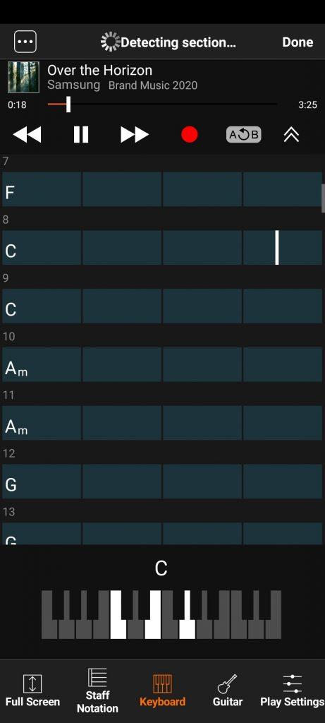 Chord Воспроизведение