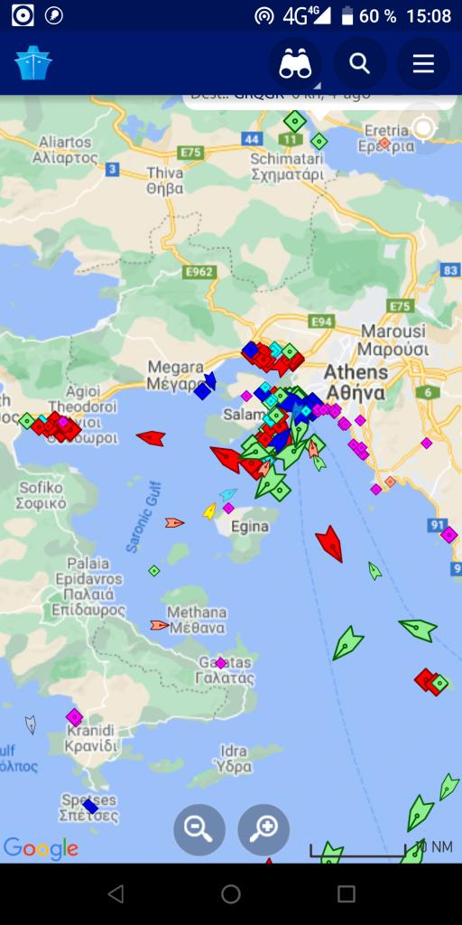 MarineTraffic Корабли на карте