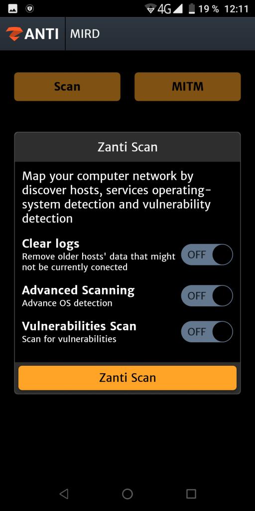 zANTI Сканирование