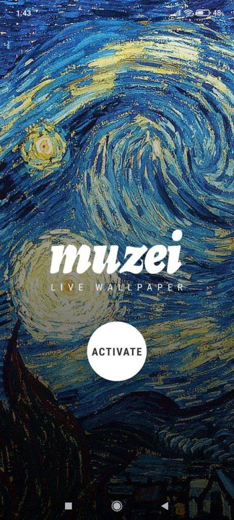 Muzei Активация