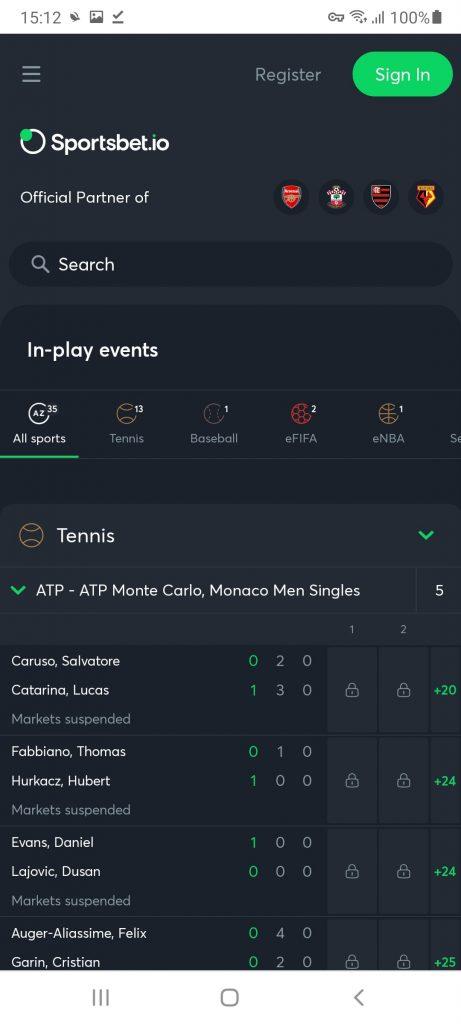 Sportsbet Теннис
