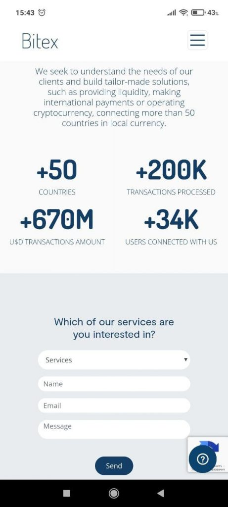 Bitex Сервисы