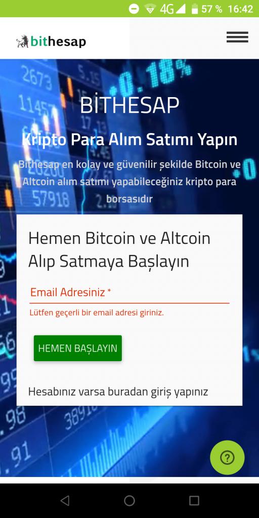 Bithesap Регистрация