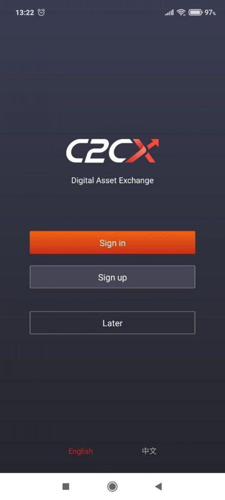 C2CX Регистрация