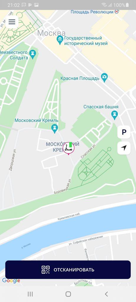 Joy Кикшеринг Карта