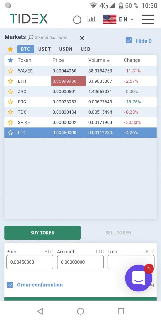 Tidex Рынки
