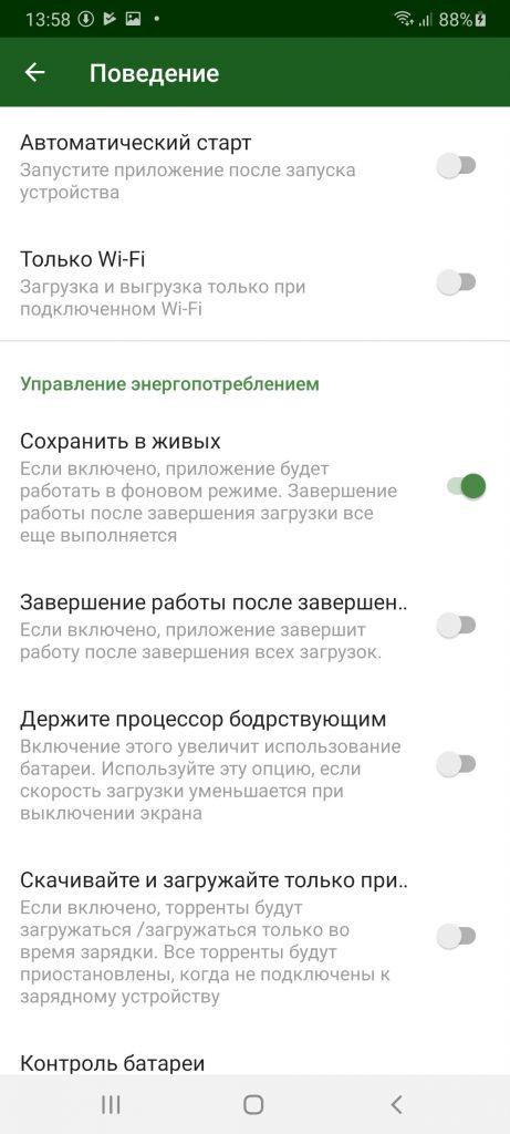 Torrent Downloader Поведение