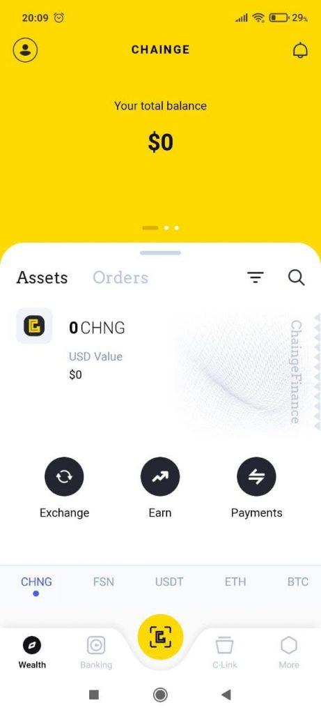 Chainge Finance Выбор
