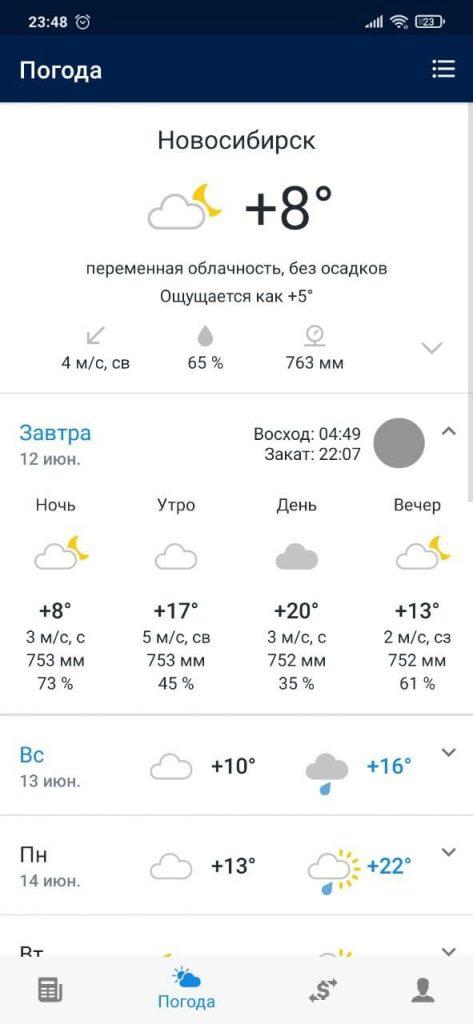 НГС Погода