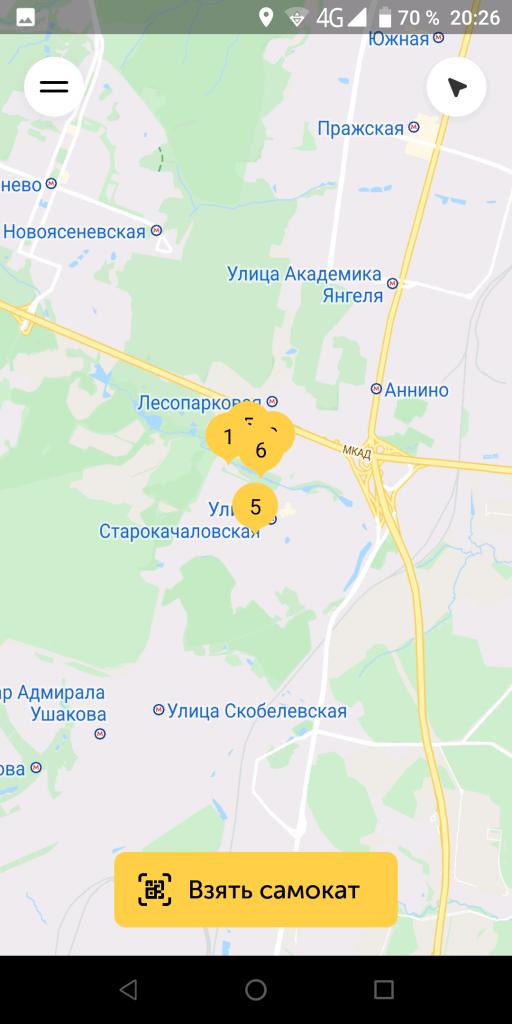 Самокат Шеринг Карта