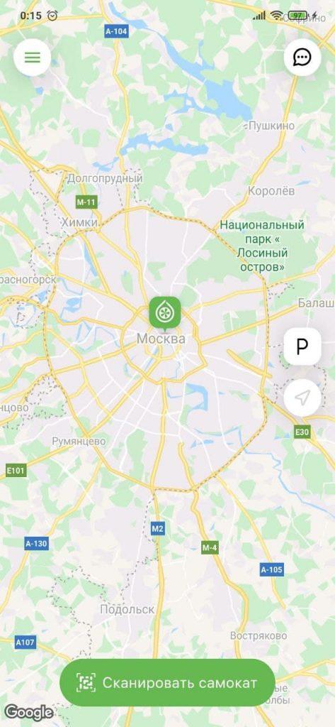 Самокаты Карусель Карта