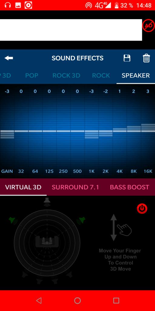 3D Surround Звуковые эффекты