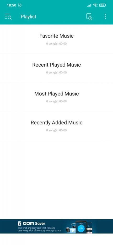 GOM Audio Категории