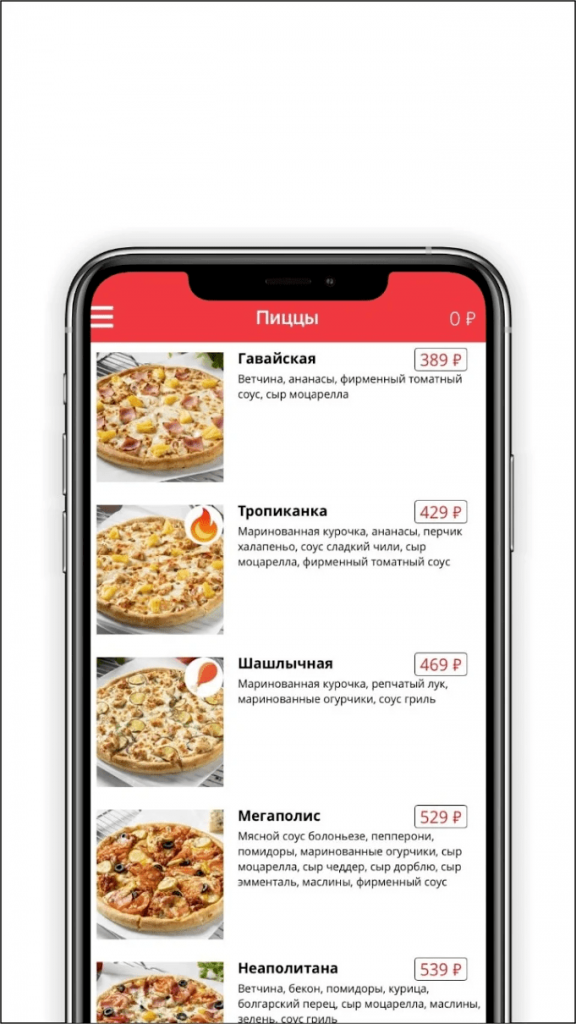 Империя пиццы Каталог