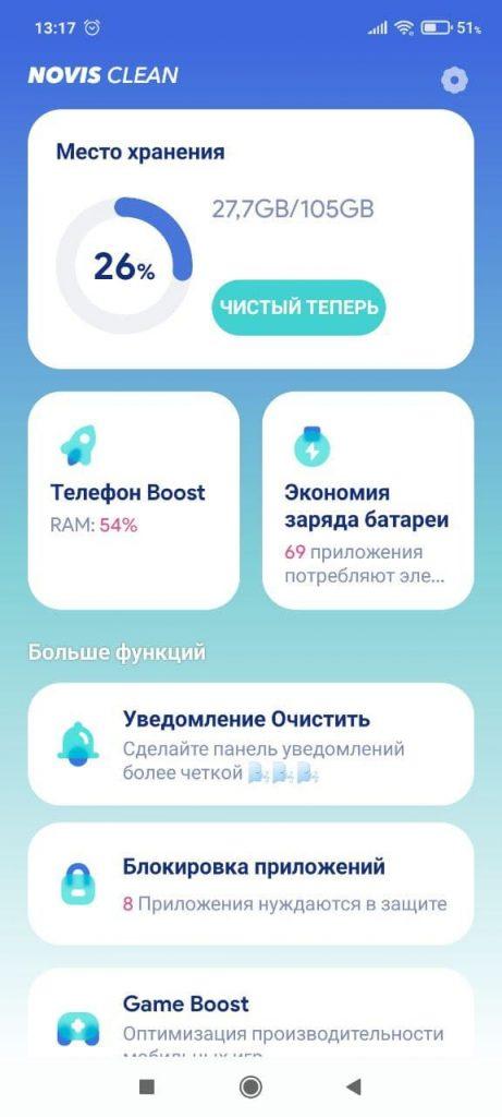 Novis Clean Показатели