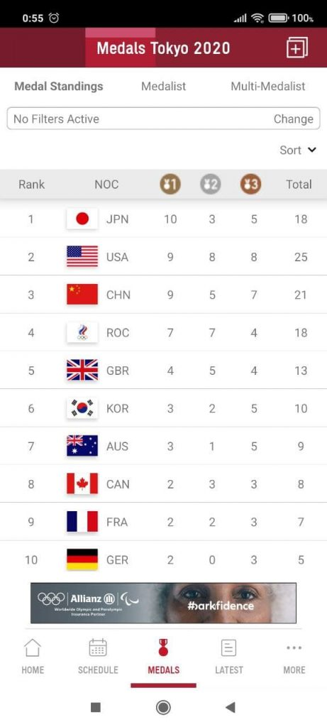 Olympics Медали