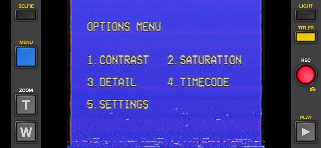 VHS Camcorder Настройки