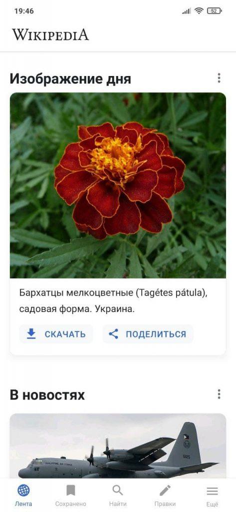 Википедия Новости
