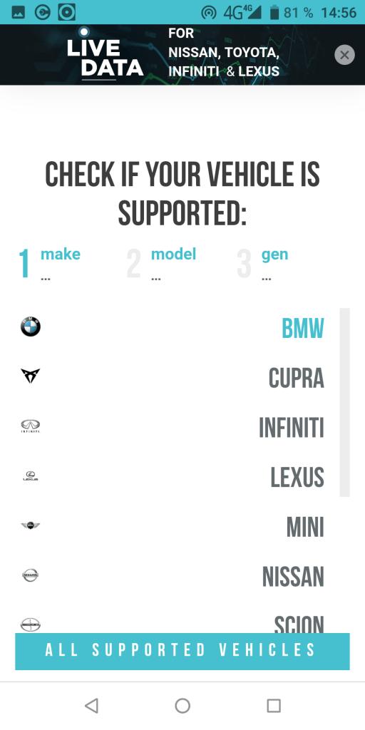 Carista Поддерживаемые автомобили