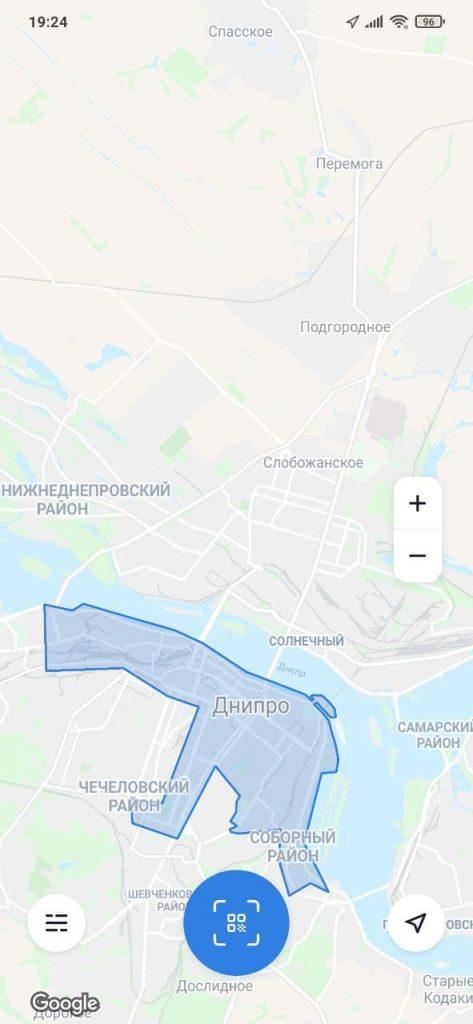 JET Шеринг электросамокатов Карта