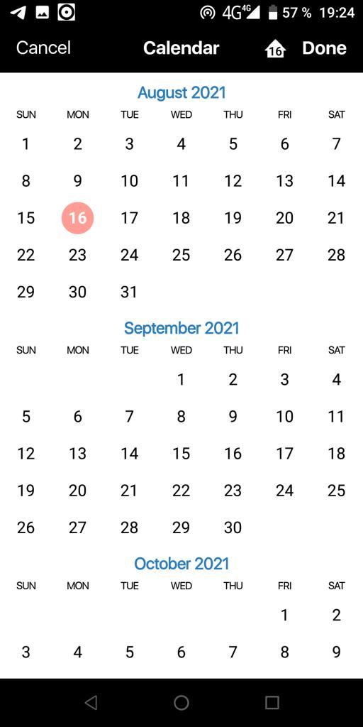 План недели Календарь