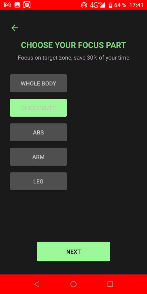 Sporty Mood Группы мышц