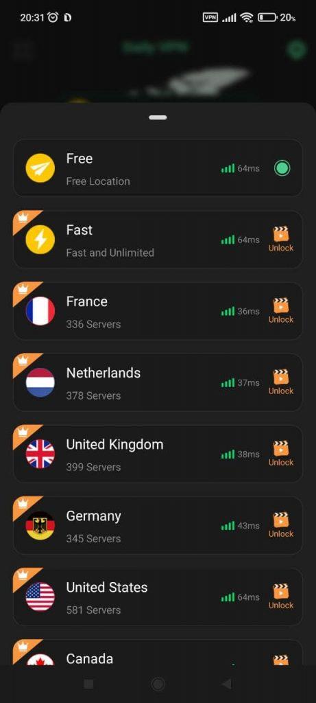 Daily VPN Серверы
