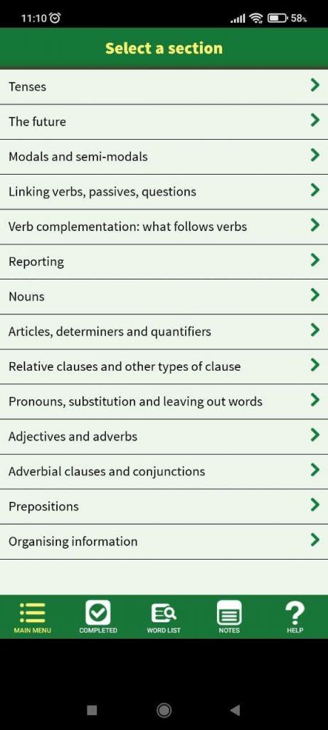 Advanced Grammar in Use Темы