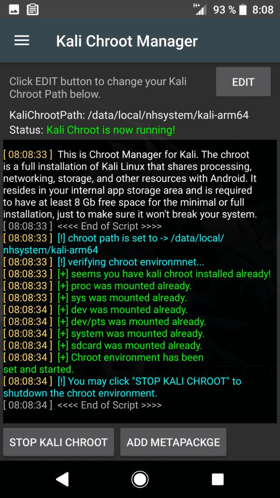 Kali NetHunter Chroot